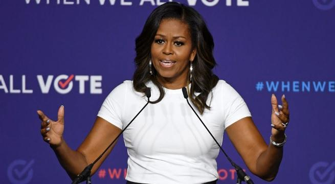 michelle obama getty images 2018