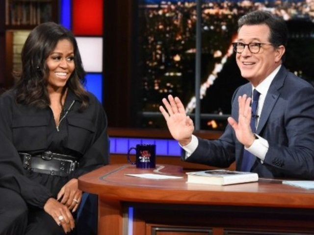 Michelle Obama Weighs in on President Trump's Ethics on 'The Late Show With Stephen Colbert'