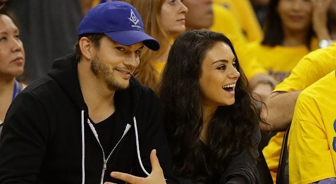 mila kunis ashton kutcher getty images 2016
