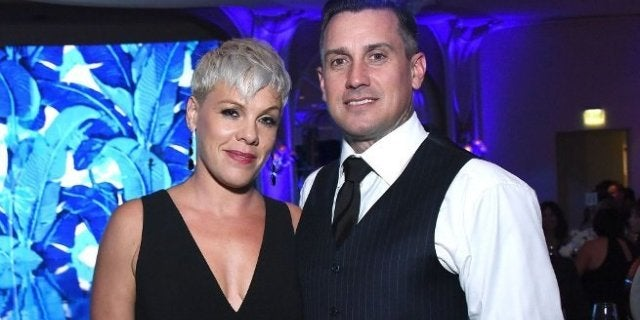 pink carey hart getty images