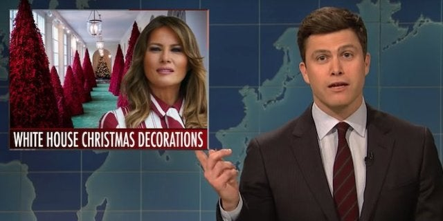 saturday-night-live-colin-jost-melania-trump-christmas-weekend-update-snl
