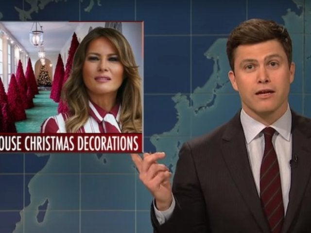 'SNL' Surprisingly Defends Melania Trump's White House Christmas Decorations During 'Weekend Update'