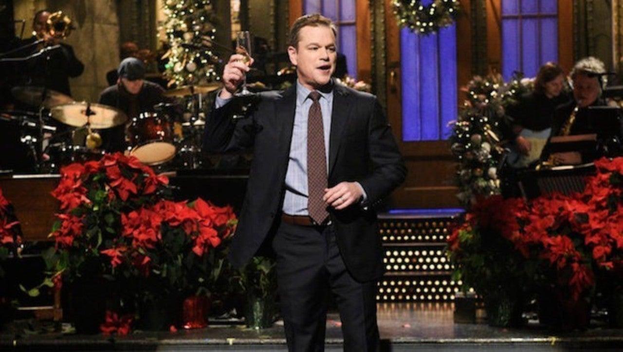 Matt Damon Snl Christmas.New Snl Not On Tonight Nbc Re Airs Matt Damon Episode Instead