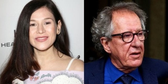yael stone geoffrey rush getty images