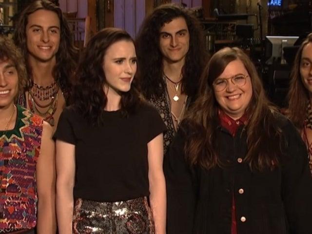 'SNL' Star Aidy Bryant Storms off Set in New Promo With Rachel Brosnahan, Greta Van Fleet