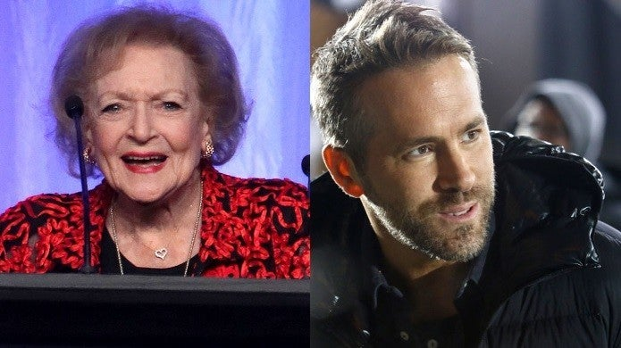 betty white ryan reynolds getty images