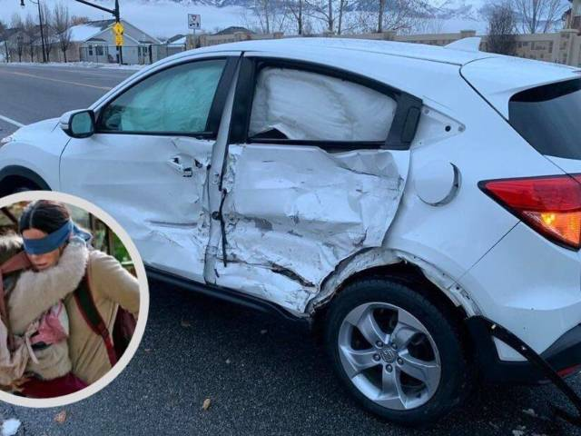 Blindfolded Teenager Crashes Car Doing 'Bird Box' Challenge