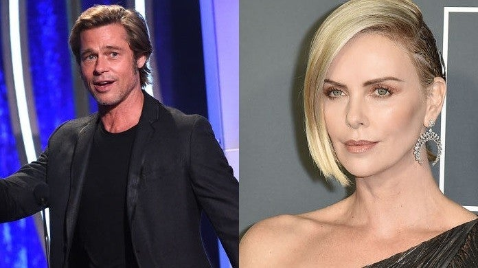 brad pitt charlize theron getty images