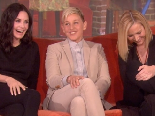 Ellen DeGeneres Staged a 'Friends' Reunion Between Courteney Cox and Lisa Kudrow