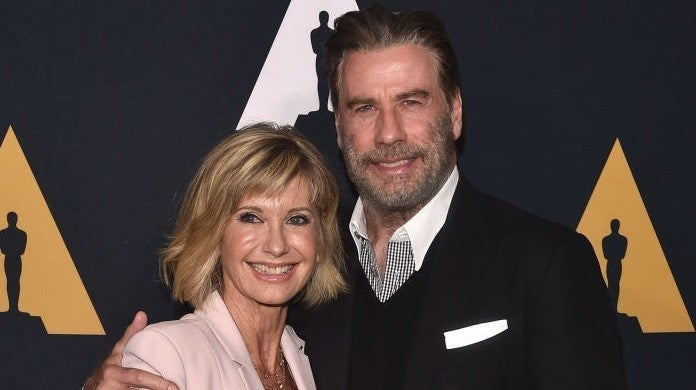 john travolta olivia newton john getty images