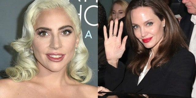 lady gaga angelina jolie getty images