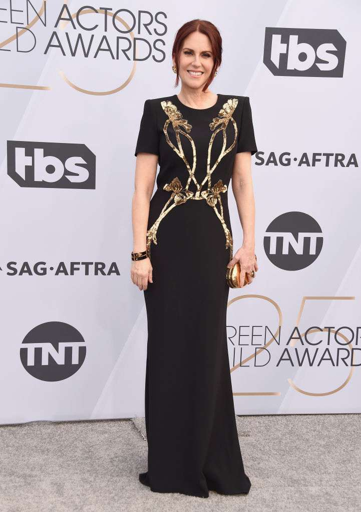 megan mullally sag awards red carpet Gregg DeGuire