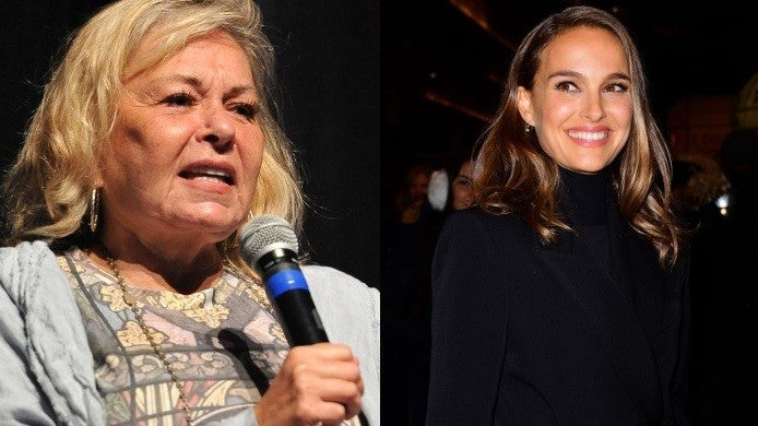 natalie portman roseanne barr getty images