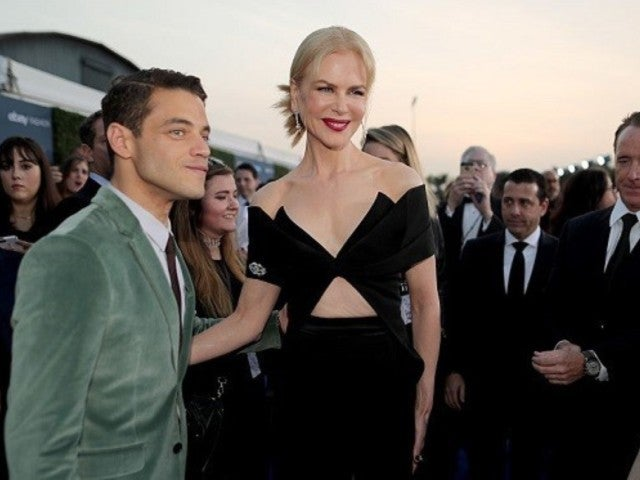 Nicole Kidman Appears to Awkwardly Snub Rami Malek on Golden Globes Stage