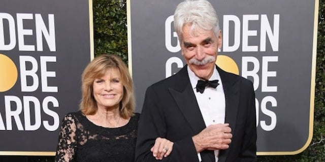 Golden Globes Sam Elliott Steps Out With Wife Katharine