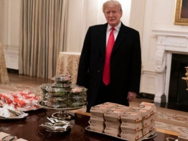 President Donald Trump Treats Clemson Tigers Football Team to Fast Food Buffet Amid Government Shutdown