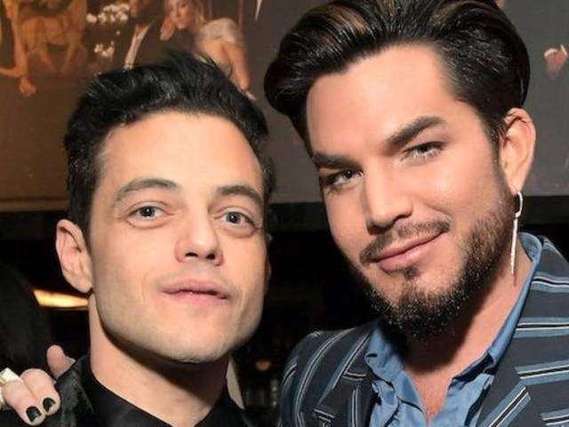 Adam Lambert Poses With 'Bohemian Rhapsody' Star Rami Malek Ahead of Oscar Ceremony