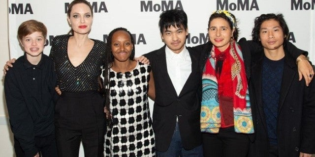 87acf5e2b Angelina Jolie Makes Rare Public Appearance With Children at MoMA Event