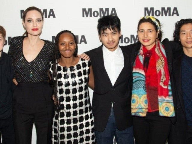 Angelina Jolie Makes Rare Public Appearance With Children at MoMA Event