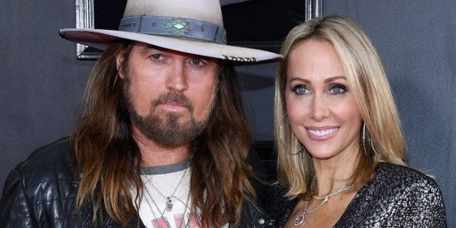 billy ray cyrus tish cyrus grammys getty images