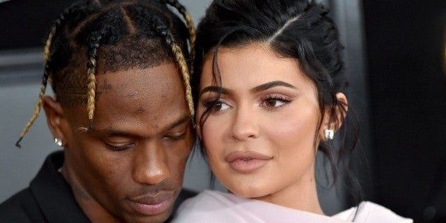 kylie jenner travis scott grammys getty images