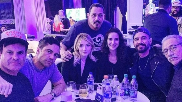 mayans mc cast super bowl liii emilio rivera instagram party crop