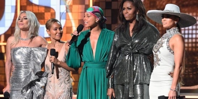 Grammy Awards 2019: Former First Lady Michelle Obama Receives Lengthy Ovation During Opening