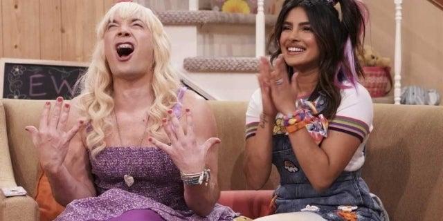 Priyanka Chopra Gets Silly With Jimmy Fallon in 'Ew' Sketch Gushing Over Nick Jonas