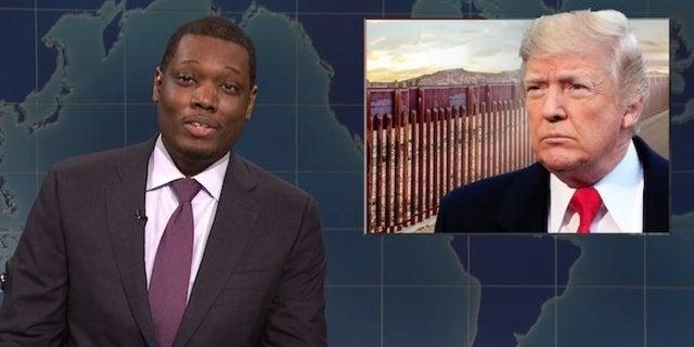 snl-weekend-update-donald-trump-border-wall-michael-che-saturday-night-live