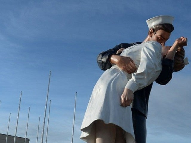 Iconic VJ Day 'Kissing Sailor' Statue Vandalized With 'Me Too'