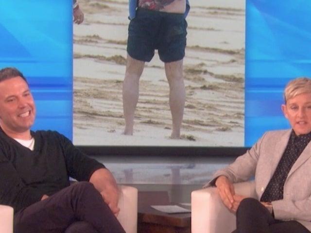Ben Affleck Addresses His Massive Back Tattoo on 'The Ellen Show'