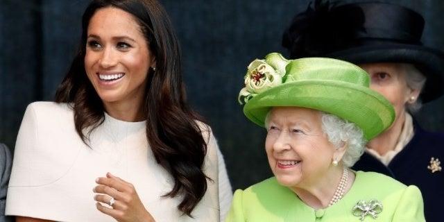 meghan markle queen elizabeth getty images