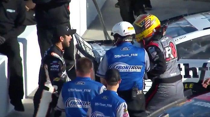 NASCAR-Daniel Suarez-Michael McDowell-Fight-TicketGuardian-500-Qualifying