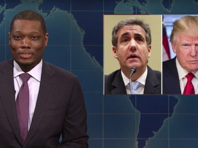 'SNL': 'Weekend Update' Anchors Roast President Trump, Michael Cohen