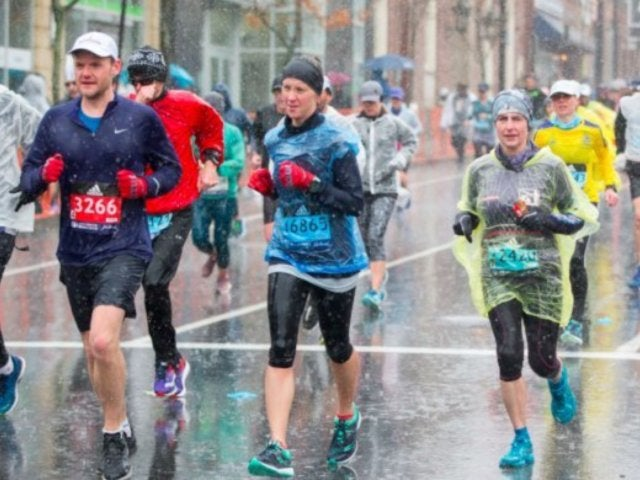 Boston Marathon Announces Runners Moved to Shelters Due to Bad Weather Conditions