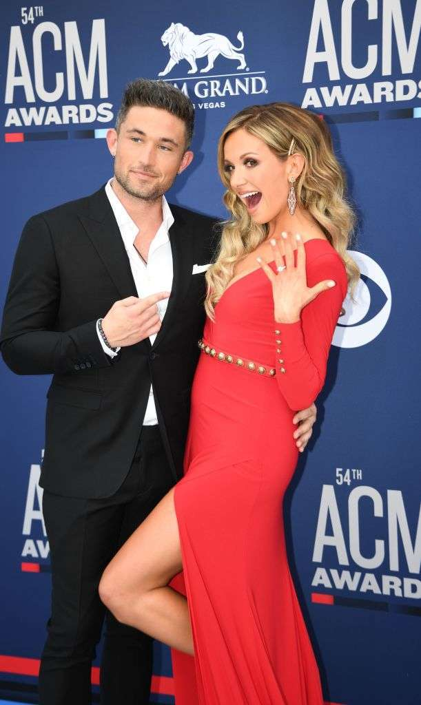Arrow Pointing Down >> ACM Awards: Carly Pearce Flashes Engagement Ring With ...