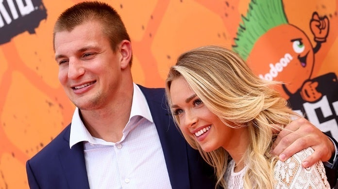 rob gronkowksi camille kostek getty images