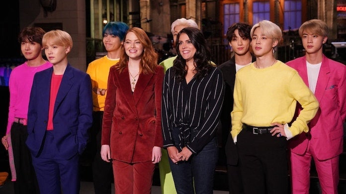 snl-emma-stone-cecily-strong-bts-nbc