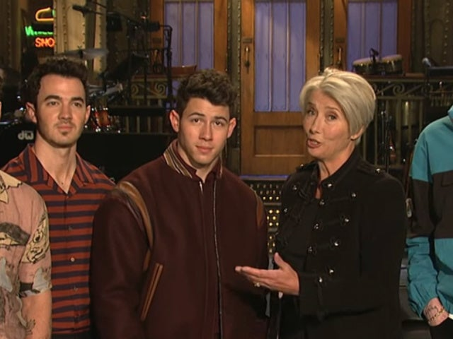 'SNL' Gets Emma Thompson the Jonas Brothers for Mother's Day in New Promo
