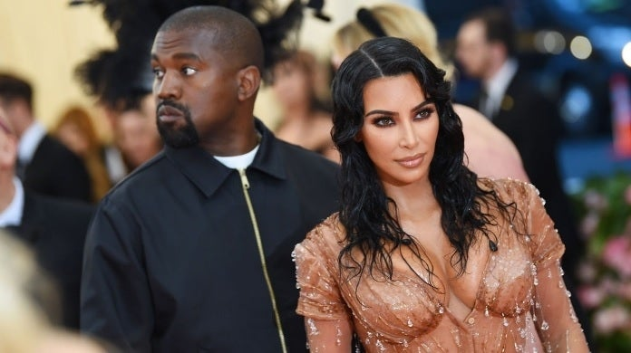 kim kardashian kanye west met gala getty images