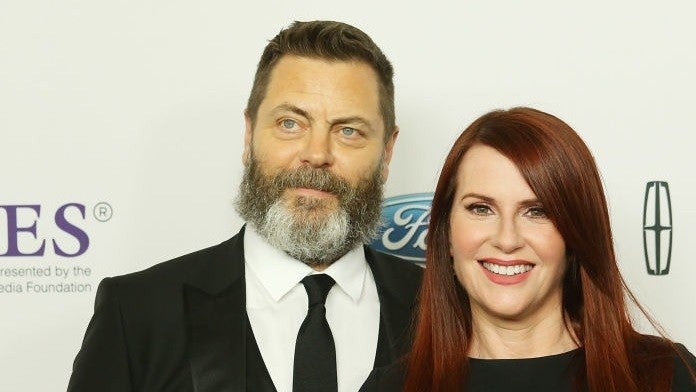nick offerman megan mullally getty images