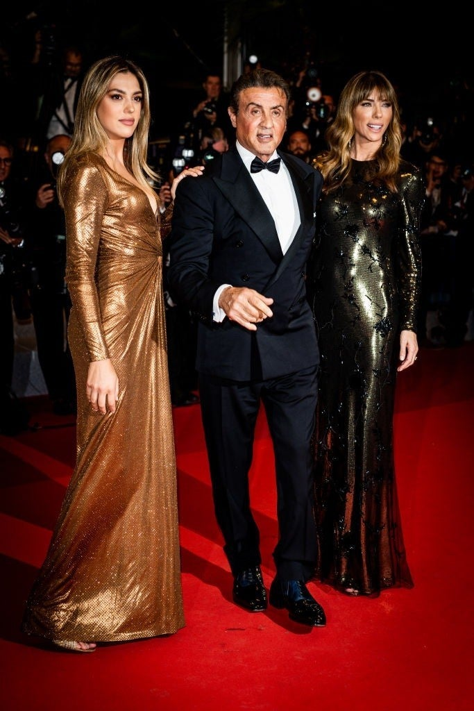 sylvester stallone sistine getty images cannes 2