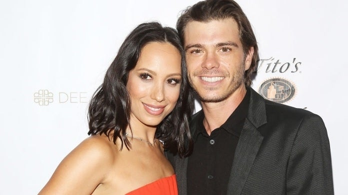 cheryl burke matthew lawrence getty images