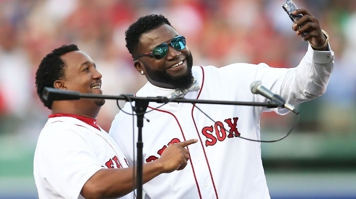 david ortiz pedro martinez getty images