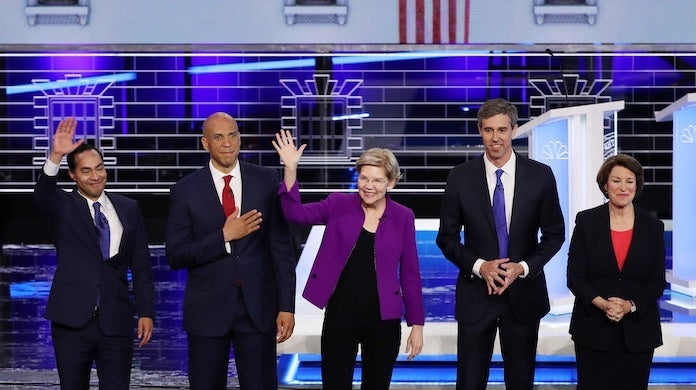 democratic-debate-night-1-candidates-getty