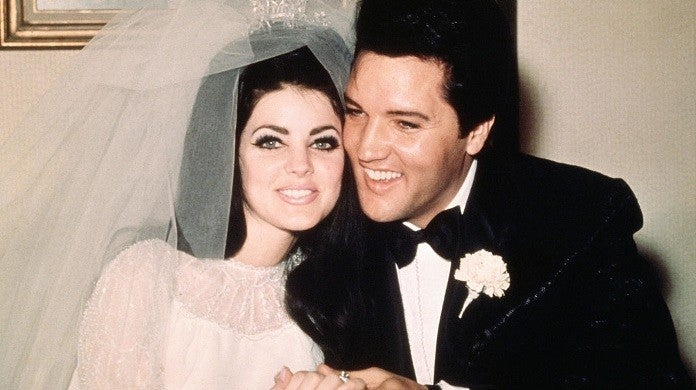 elvis presley priscilla wedding getty images