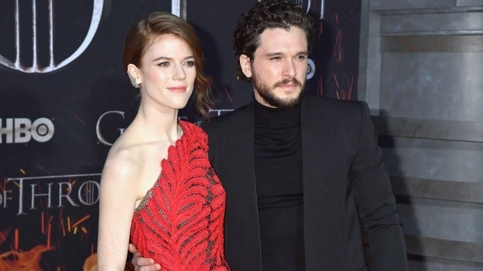 kit harington rose leslie getty images april 2019