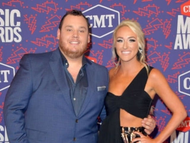 CMT Awards: Luke Combs Suits up, Steps out With Fiancee Nicole Hocking