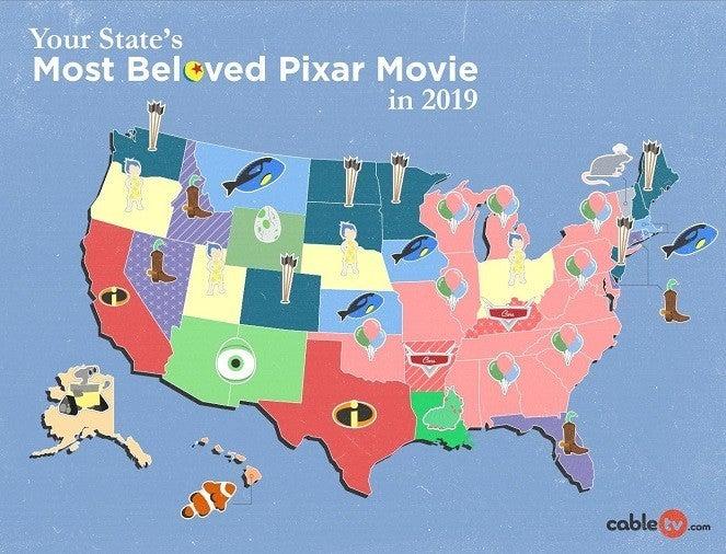 Pixar 2019 map