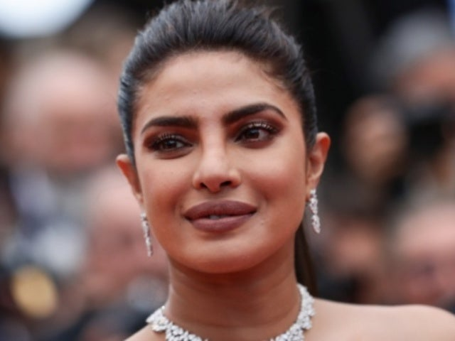 Priyanka Chopra Sports Blonde Hair During Night out in Paris